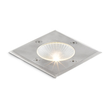 RIZZ čtvercová nerez 230V/350mA LED 3W IP65 3000K - RED - DESIGN RENDL