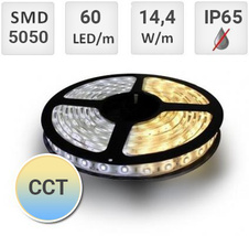 LED pásek 14,4W/m CCT 60LED/m IP65